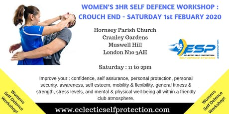 WOMENS FEBUARY CROUCH END SELF DEFENCE WORKSHOP 2020 tickets
