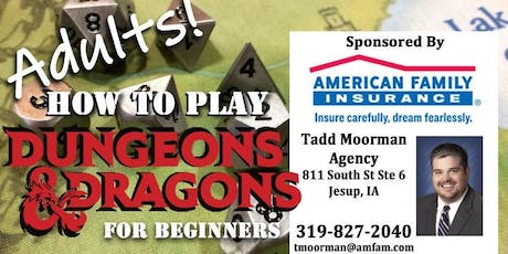 """Adults """"How-to-Play D&D"""" Workshop for Beginners tickets"""