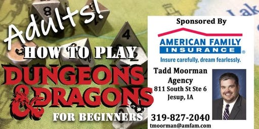 "Adults ""How-to-Play D&D"" Workshop for Beginners"