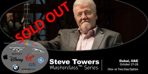 STEVE TOWERS MASTERCLASS Series - SOLD OUT SORRY!