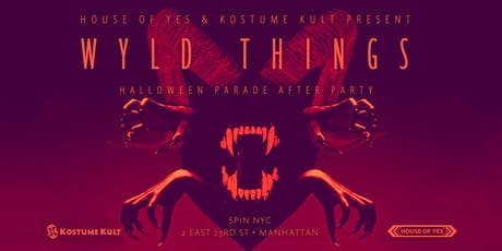 WYLD THINGS: Halloween Parade Afterparty tickets