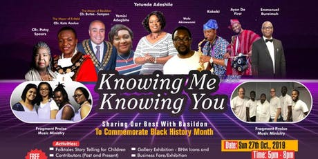Knowing You, Knowing Me - To Commemorate Black History Month  tickets