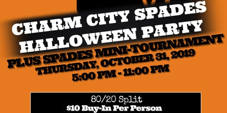 Charm City Spades ♠️ Halloween Party and Spades Tournament tickets