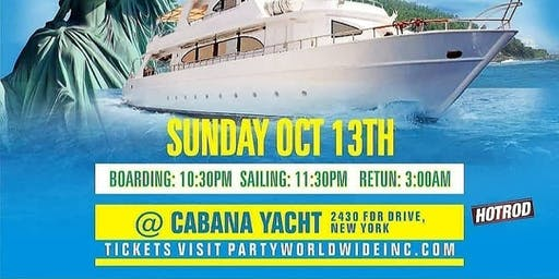10/13 Hiphop Meets Reggae YACHT PARTY @ CABANA YACHT NYC COLUMBUS WEEKEND