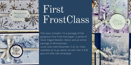 First Frost Holiday cards tickets