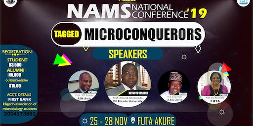 NIGERIAN ASSOCIATION MICROBIOLOGY STUDENTS NATIONAL CONFERENCE 2019