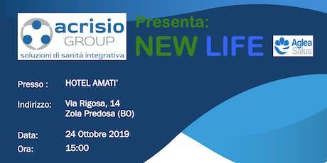 Presentazione ACRISIO Group progetto NEWLIFE di MUTUA AGLEA SALUS- Bologna biglietti