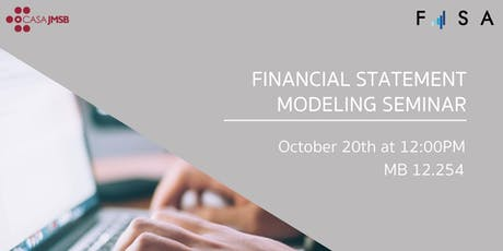 FISA Presents:  Financial Statement Modeling Seminar billets