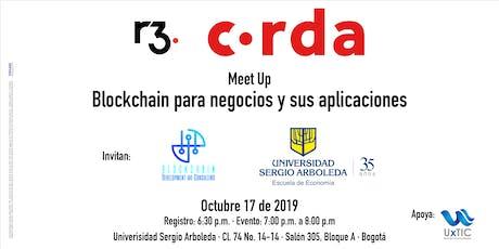 Meet Up Corda  - Blockchain para negocios y sus aplicaciones entradas
