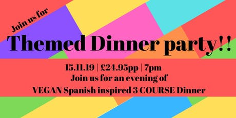 Vegan Spanish Themed 3 Course Dinner in a yurt!! tickets