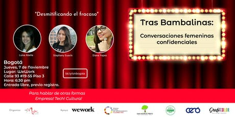 """""""Tras Bambalinas: Conversaciones femeninas confidenciales"""" tickets"""