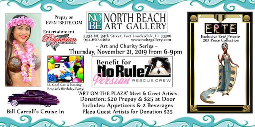 Evening of Art & Charity: No RuleZ Persian Cat Rescue Crew Benefit
