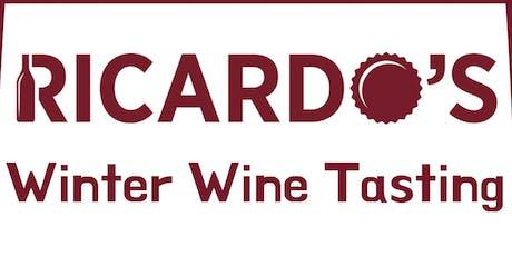 Ricardo's Cellar Winter Wine Tasting - Single Ticket tickets