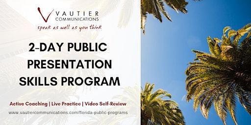 Tampa Public Presentation Skills Workshop - February 12-13, 2020