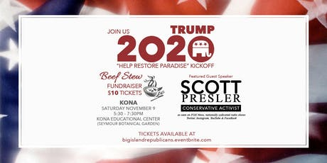 "Trump 2020 ""Help Restore Paradise"" Kickoff in Kona, Hawaii tickets"