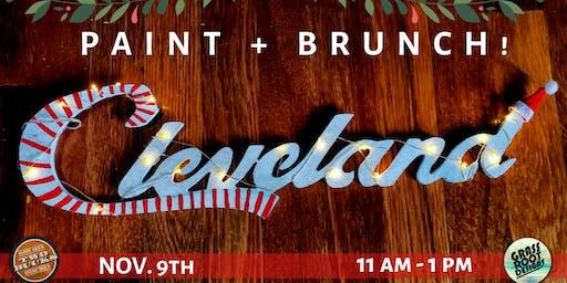 {Light Up} Holiday Cleveland Sign! Paint + Brunch