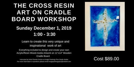 The Cross Resin Art on Wooden Cradle Board tickets