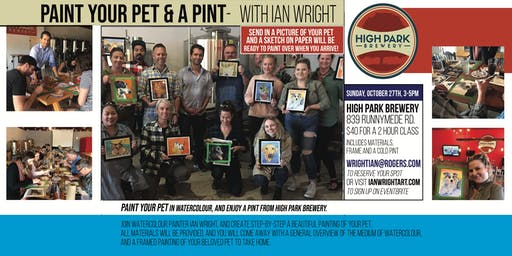 PAINT YOUR PET & A PINT - With Ian Wright