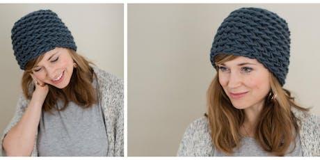 Sip & Stitch Beginner Hat Crochet Class tickets