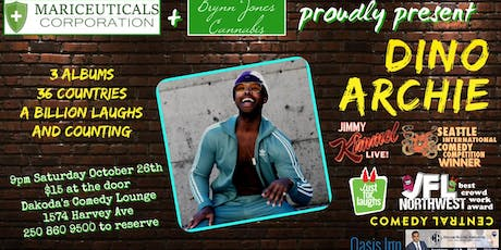 Mariceuticals & Brynn Jones Cannabis presents Dino Archie tickets