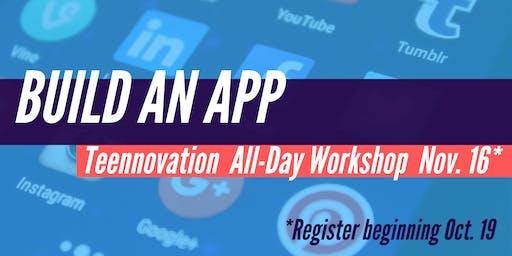 Teennovation: Build an App (all-day workshop)