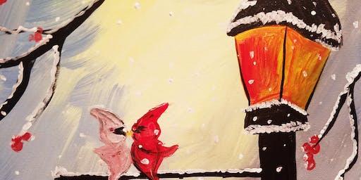 DIY Cheerful Winter Painting