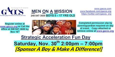2019 GACCS Men On A Mission Boys Strategic Acceleration Fun Day Sat. Nov 30 tickets