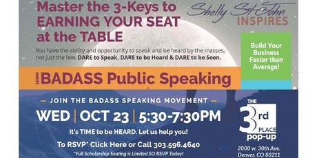 Master the 3-Keys to EARNING YOUR SEAT at the TABLE tickets