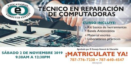Técnico de Reparación de Computadoras tickets