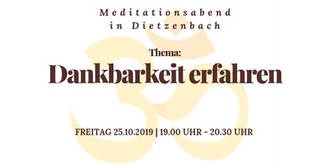 Meditationsabend in Dietzenbach Tickets