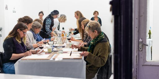 Watercolour and Wine at Whitespace