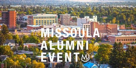 Missoula Alumni October Social tickets