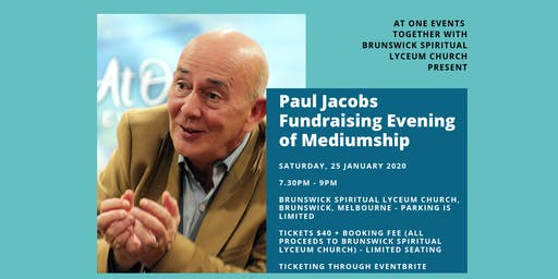 Paul Jacobs Fundraising Evening of Mediumship