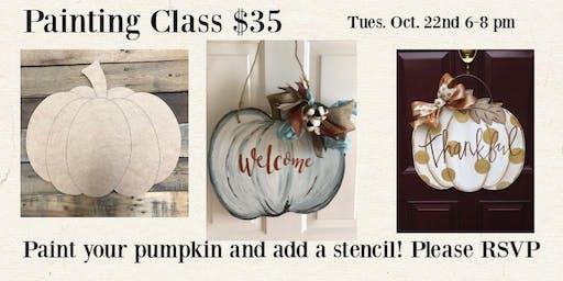 Pumpkin Painting Class