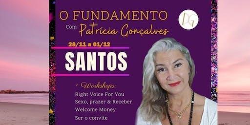 Workshops  SEXO, PRAZER E RECEBER com Patrícia Gonçalves em Santos sp