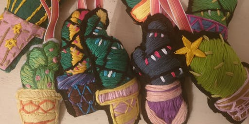 Christmas Cactus Decoration Embroidery Workshop