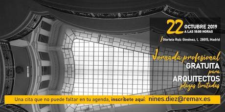Jornada profesional para Arquitectos entradas