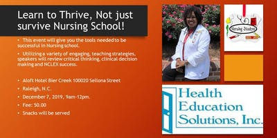 Nursing School Boot Camp- Learn To Thrive in Nursing School