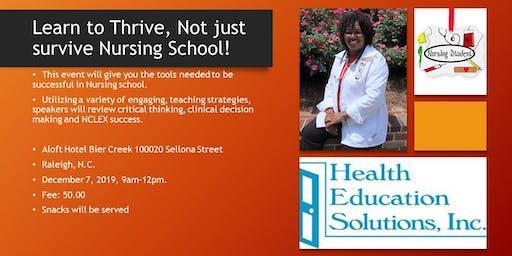 Nursing School Boot Camp- Learn To Thrive in Nursing School
