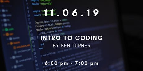 Workshop Wednesdays: Intro to Coding tickets