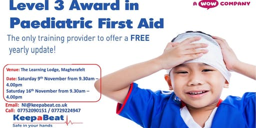 Magherafelt Level 3 Award in Paediatric First Aid (12 Hours)