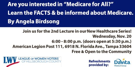 "Are you interested in ""Medicare for All?"" Learn the FACTS and be informed about Medicare tickets"