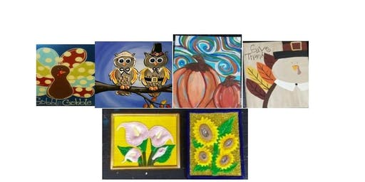 Kid's Paint Night (Canvas or Ceramic Wall Plate Your Choice)