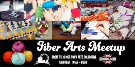 Saturdays at the Station:  Fiber Arts Meetup tickets