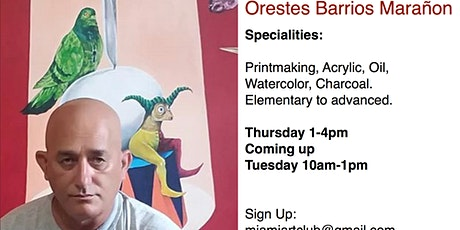 Painting, Drawing, Printmaking with Prof. Orestes Marañon tickets