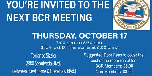 Beach Cities Republicans Monthly Meeting
