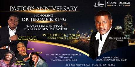 Pastor's Anniversary Celebration tickets