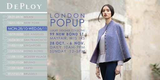 London Mayfair AW19 Sustainable Fashion PopUp