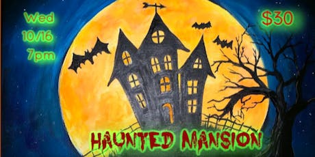 Haunted Mansion Canvas Painting Class in Lakewood tickets