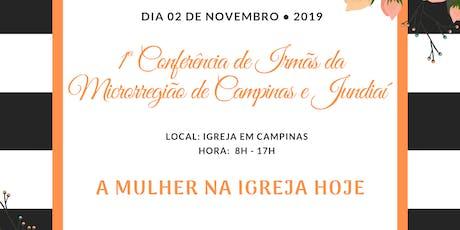 1ª Conferência de irmãs da Microrregião de Campina tickets